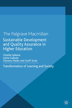 Fadeeva, Zinaida - Sustainable Development and Quality Assurance in Higher Education, e-kirja