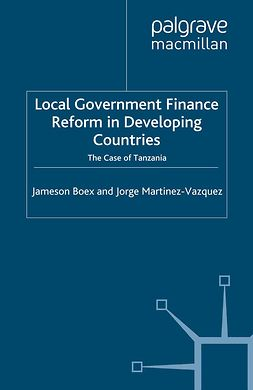 Boex, Jameson - Local Government Finance Reform in Developing Countries, ebook