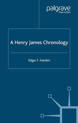 Harden, Edgar F - A Henry James Chronology, ebook