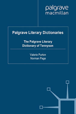 Page, Norman - The Palgrave Literary Dictionary of Tennyson, ebook