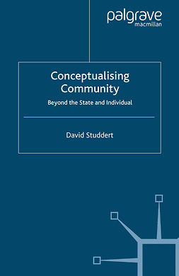 Studdert, David - Conceptualising Community, ebook