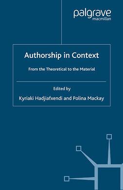 Hadjiafxendi, Kyriaki - Authorship in Context, e-kirja