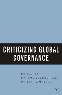 Lederer, Markus - Criticizing Global Governance, ebook