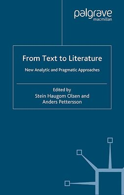 Olsen, Stein Haugom - From Text to Literature, e-bok
