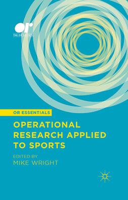 Wright, Mike - Operational Research Applied to Sports, ebook