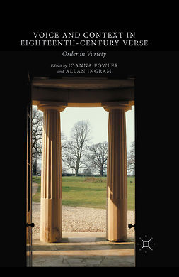 Fowler, Joanna - Voice and Context in Eighteenth-Century Verse, ebook