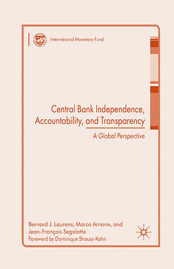 Arnone, Marco - Central Bank Independence, Accountability, and Transparency, ebook