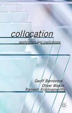 Barnbrook, Geoff - Collocation, ebook
