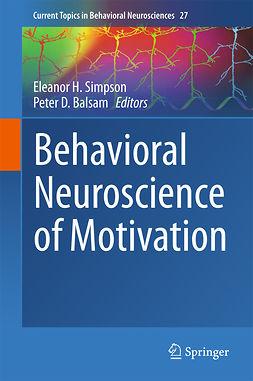 Balsam, Peter D. - Behavioral Neuroscience of Motivation, e-kirja