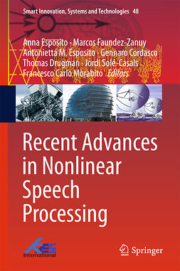 Cordasco, Gennaro - Recent Advances in Nonlinear Speech Processing, ebook