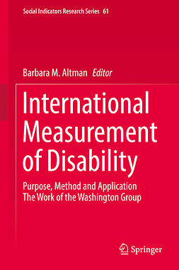 Altman, Barbara M. - International Measurement of Disability, ebook