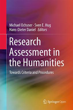Daniel, Hans-Dieter - Research Assessment in the Humanities, ebook