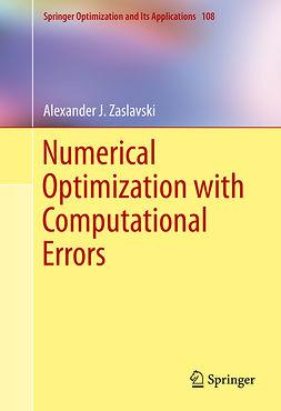 Zaslavski, Alexander J. - Numerical Optimization with Computational Errors, e-bok
