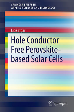 Etgar, Lioz - Hole Conductor Free Perovskite-based Solar Cells, ebook