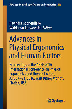 Goonetilleke, Ravindra - Advances in Physical Ergonomics and Human Factors, e-kirja