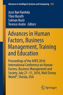 Andre, Terence - Advances in Human Factors, Business Management, Training and Education, e-kirja