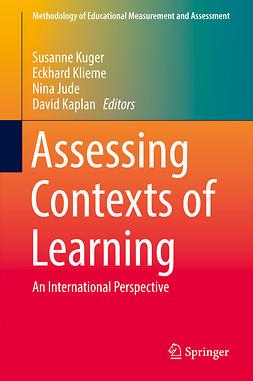 Jude, Nina - Assessing Contexts of Learning, ebook