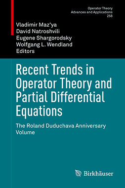 Maz'ya, Vladimir - Recent Trends in Operator Theory and Partial Differential Equations, ebook