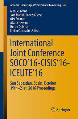Corchado, Emilio - International Joint Conference SOCO'16-CISIS'16-ICEUTE'16, e-kirja