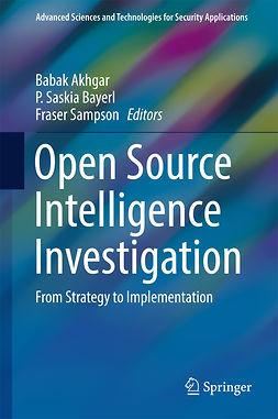 Akhgar, Babak - Open Source Intelligence Investigation, ebook