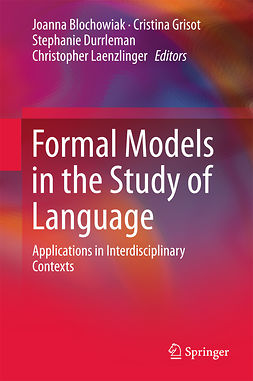 Blochowiak, Joanna - Formal Models in the Study of Language, e-bok