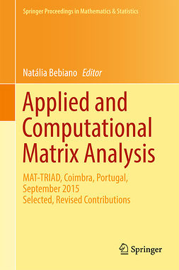 Bebiano, Natália - Applied and Computational Matrix Analysis, e-kirja