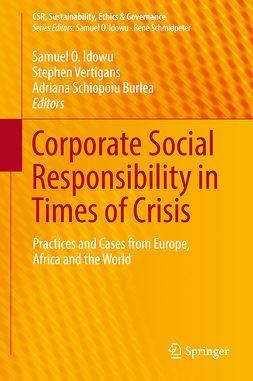 Burlea, Adriana Schiopoiu - Corporate Social Responsibility in Times of Crisis, e-kirja