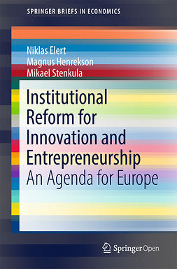 Elert, Niklas - Institutional Reform for Innovation and Entrepreneurship, e-bok