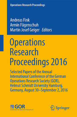 Fink, Andreas - Operations Research Proceedings 2016, e-bok