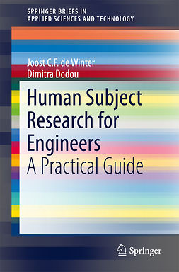 Dodou, Dimitra - Human Subject Research for Engineers, ebook