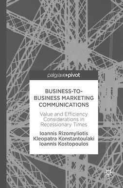 Konstantoulaki, Kleopatra - Business-to-Business Marketing Communications, ebook