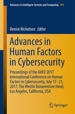 Nicholson, Denise - Advances in Human Factors in Cybersecurity, ebook