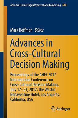 Hoffman, Mark - Advances in Cross-Cultural Decision Making, ebook