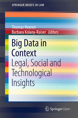 Hoeren, Thomas - Big Data in Context, e-kirja