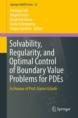 Colli, Pierluigi - Solvability, Regularity, and Optimal Control of Boundary Value Problems for PDEs, e-kirja