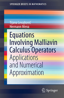 Levajković, Tijana - Equations Involving Malliavin Calculus Operators, e-bok