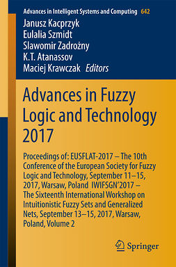 Atanassov, K. T. - Advances in Fuzzy Logic and Technology 2017, ebook