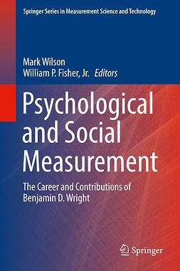 Jr., William P. Fisher, - Psychological and Social Measurement, ebook