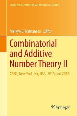 Nathanson, Melvyn B. - Combinatorial and Additive Number Theory II, ebook