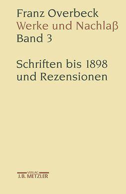 Cancik, Hubert - Franz Overbeck Werke und Nachlaß, ebook