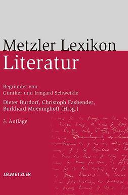 Burdorf, Dieter - Metzler Lexikon Literatur, ebook