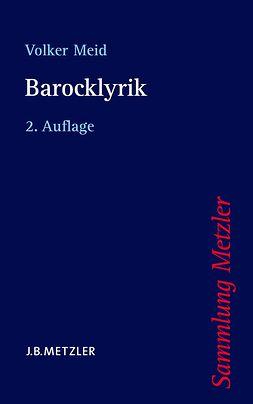 Meid, Volker - Barocklyrik, ebook