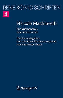 König, René - Niccolò Machiavelli, ebook