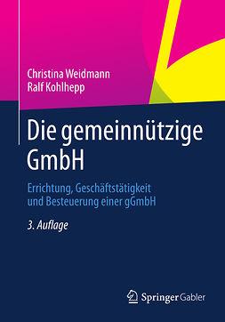 Kohlhepp, Ralf - Die gemeinnützige GmbH, e-bok