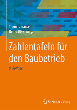 Krause, Thomas - Zahlentafeln für den Baubetrieb, ebook