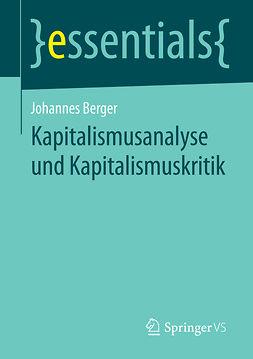 Berger, Johannes - Kapitalismusanalyse und Kapitalismuskritik, ebook