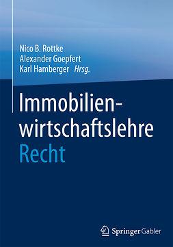 Goepfert, Alexander - Immobilienwirtschaftslehre - Recht, ebook