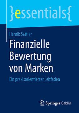 Sattler, Henrik - Finanzielle Bewertung von Marken, ebook