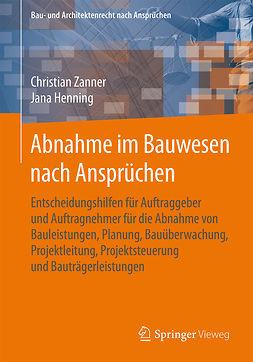 Henning, Jana - Abnahme im Bauwesen nach Ansprüchen, e-kirja