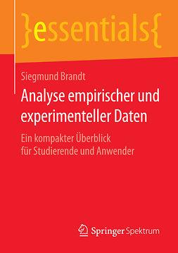 Brandt, Siegmund - Analyse empirischer und experimenteller Daten, ebook